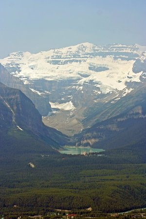Lake Louise Sightseeing Gondola: View from the Lodge on the Mountain