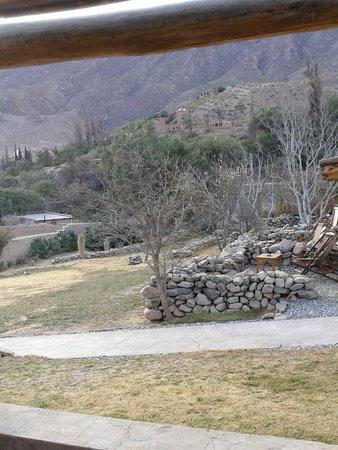 Posada de Luz: vista de la teeraza de una de las habitaciones