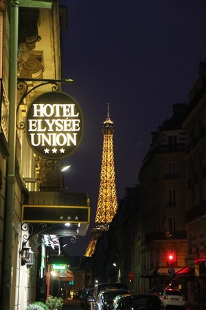 Hotel Elysees Union: View from Front Door looking left