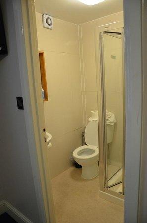Hanover Hotel Victoria: tiny and dirty bathroom