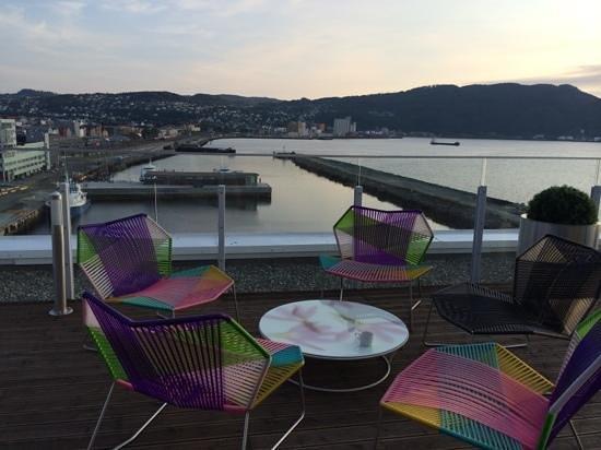 Clarion Hotel & Congress Trondheim: God utsikt fra skybaren