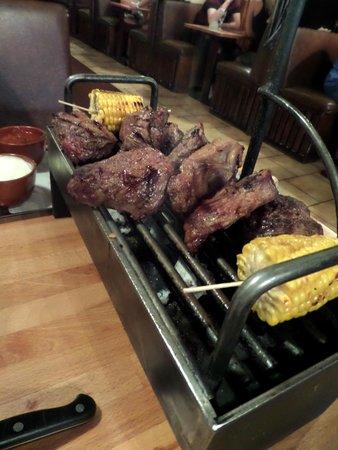 El Churrasco: Evening mixed grill...minus some succulent steak