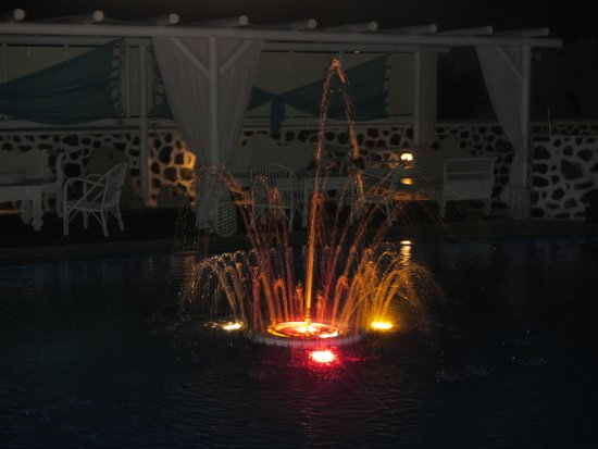 Dream Island Hotel: view of pool at night