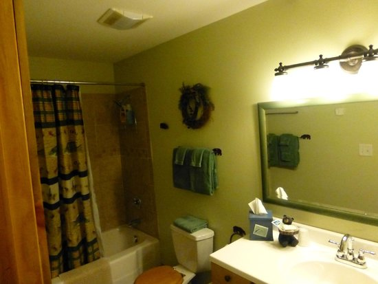 Fall River Cabins: Bathroom in Blue Spruce