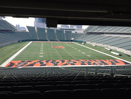 Paul Brown Stadium: This is from the 'Press Box' view of Paul Brown(Bengals) Stadium--gasp!