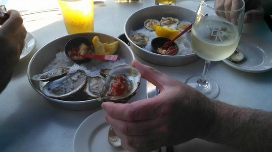 Bookstore & Restaurant: Raw Bar Lunch - Yum!