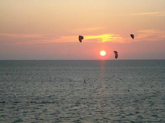 Kitty Hawk Kites: the view at sunset---fantastic!!