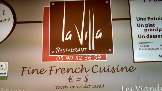 La Villa Restaurant : La Villa in Grand Case St. Martin