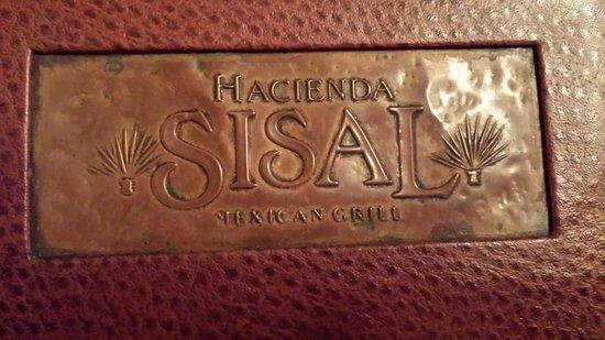 Hacienda Sisal : The menu