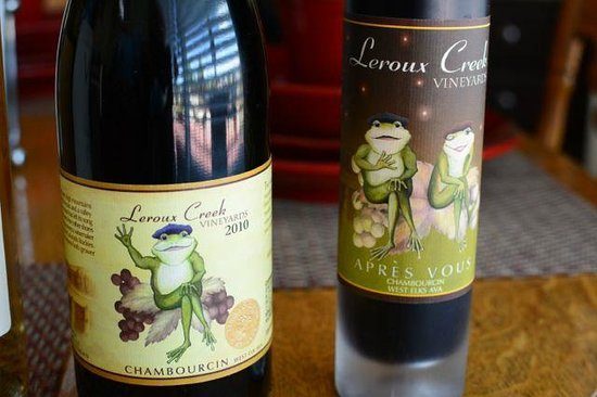 Hotchkiss, CO: Chambourcin and an after-dinner wine