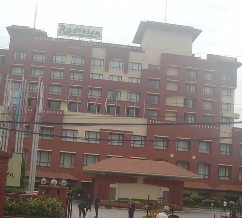 Radisson Hotel Kathmandu: Front view of main hotel building