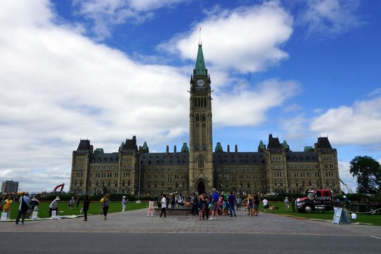 Colline du Parlement : Center building of Parliament Hill