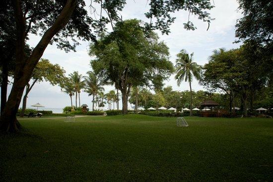 Hyatt Regency Hua Hin : Expansive lawn.