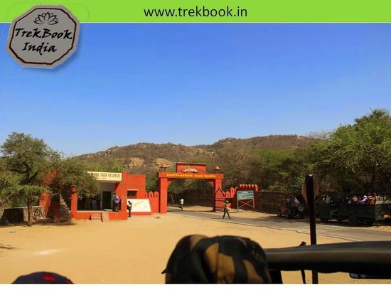 Ranthambore National Park: Entry gate where ID checking has to happen