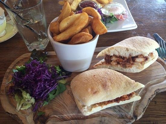 The Alice Lisle: Bbq chicken ciabatta and chips