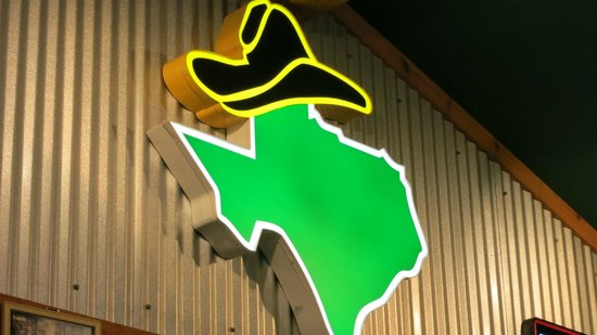 Texas Roadhouse : well...they got the map of texas right
