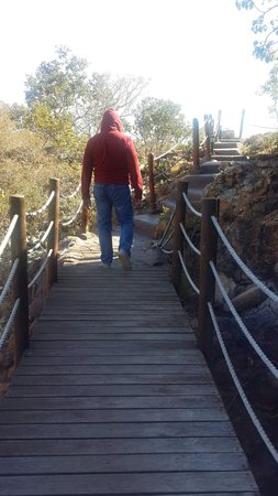 Monate Game Lodge: Path to the cave over a bridge