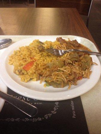 Fres Co: Paella and spaghetti