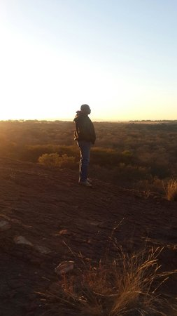 Monate Game Lodge: Sunset view at the end of our game drive