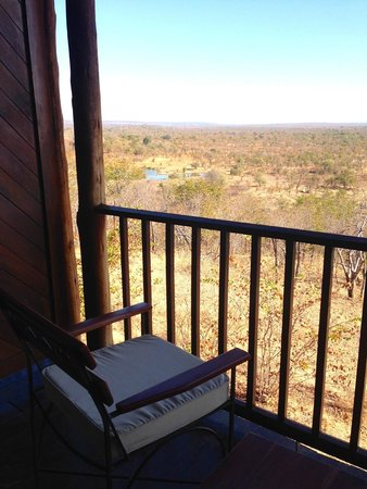 Victoria Falls Safari Lodge: View from our deck of room