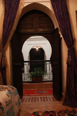 Riad Al Kadar : View from our room intoo  the riad