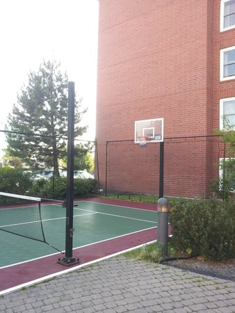 A small tennis basketball court picture of residence for Small basketball court