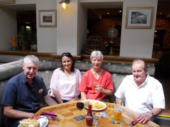 The Dolphin Hotel: four very happy diners.