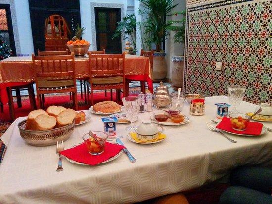 Riad Al Kadar: Breakfast