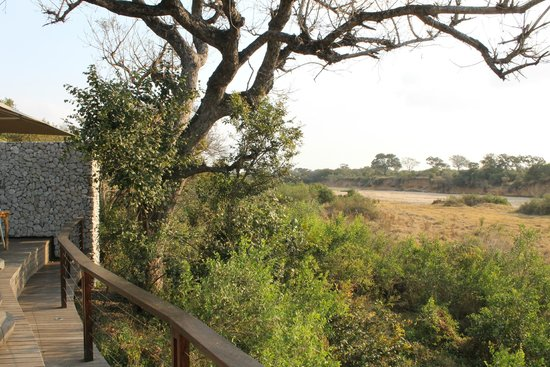 andBeyond Ngala Tented Camp: The view of the river that was dried out