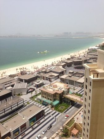 Amwaj Rotana : View from our room overlooking the beach