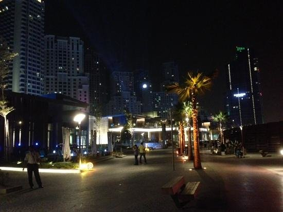 Amwaj Rotana : The beach front at night