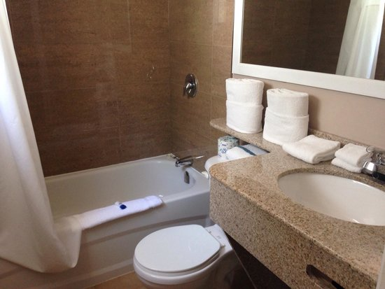 Country Squire Resort & Spa : Brand new washrooms
