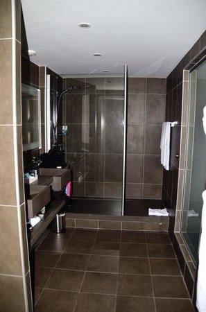 Novotel Toulouse Centre Wilson : La douche très spacieuse de la chambre privilège
