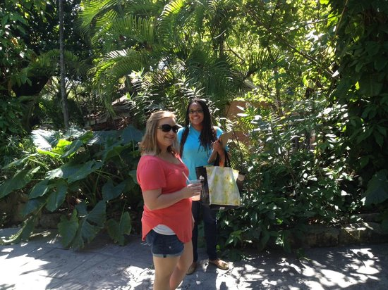 Islandz Tours - Cultural Walking Tours of Downtown Nassau: Orchid and I on the grounds of the Graycliffe