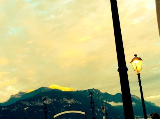 Menaggio: One of the most gorgeous views I've ever seen. The sunlight on the mountain looked like gold.