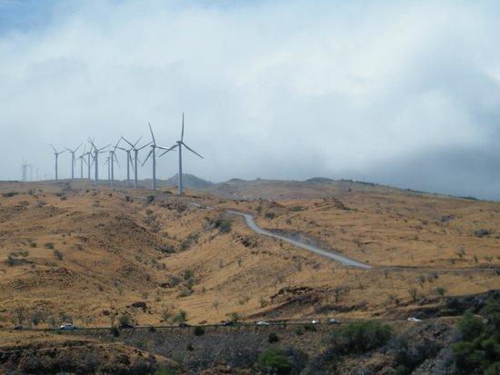 Four Winds II : Los molinos de viento enormes justo a pie del mar