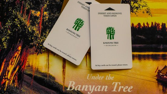 Banyan Tree Bangkok: Our Key Cards for our Club Room