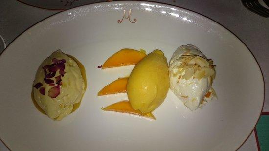 M on the Bund: Mango dessert