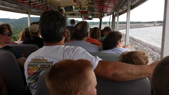 Ride The Ducks of Branson: View from the rear looking forward