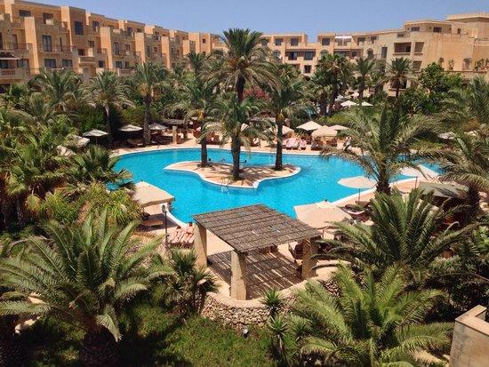 Kempinski Hotel San Lawrenz : Pool view from Premium Room 5th Floor