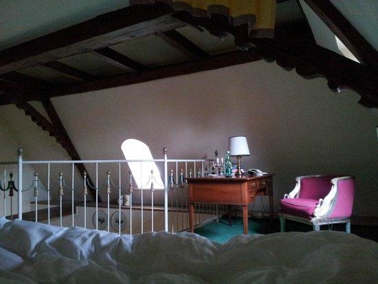 Schlosshotel Iglhauser: Uitzicht vanaf het bed