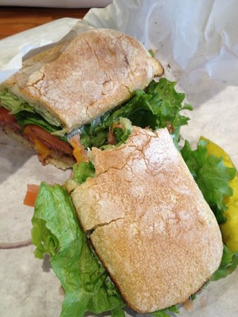 Mitchell's Delicatessen: Roast beef and cheddar (LUV their mayo!!!!)