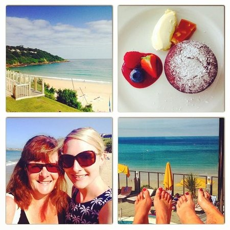 Carbis Bay Hotel & Estate: Spa Day Photos; View from the spa area and dessert!