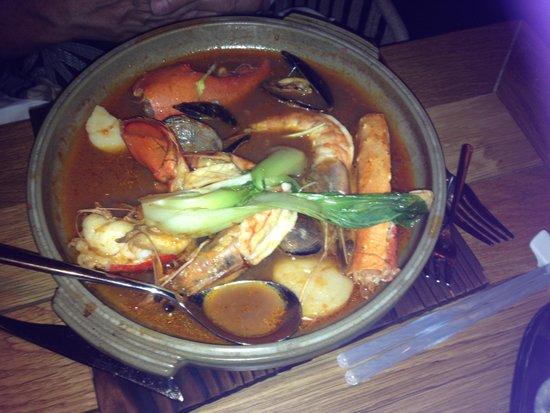 Morimoto : Fish stew.