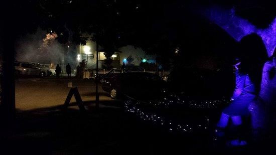 Klondike Restaurant & Bar: Looking towards the Klondike on Halloween