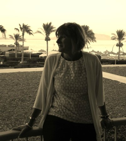 Baron Resort Sharm El Sheikh : My beautiful lady at sunset on out last night