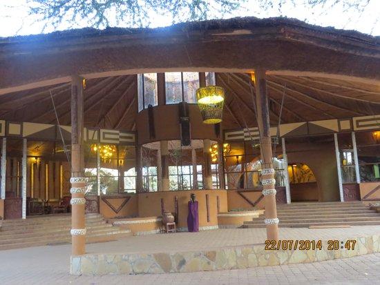 Amboseli Sopa Lodge: Mainentrance