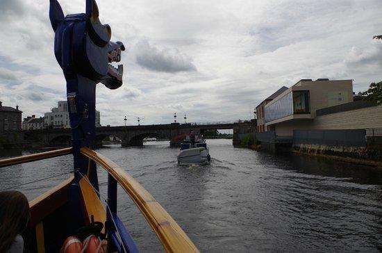 Viking Ship Cruises : Coming into Athlone Town