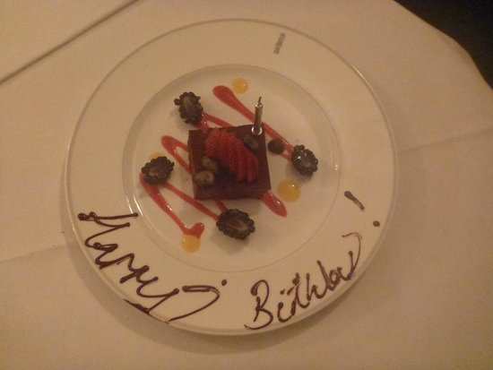 Le Gavroche: janine's 50th birthday cake (compliments of Mr Roux)