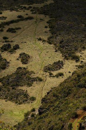 "Haleakala National Park: trail on ""crater"" floor"
